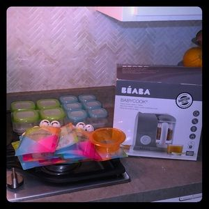 Baeba Baby Steam Cooker & Blender w oxo storage!